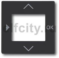 Плата центральная (накладка) для таймера 6455, 6456, серия solo/future, цвет антрацит