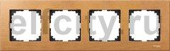 Рамка 4 поста, для горизонтального/ вертикального монтажа, бук