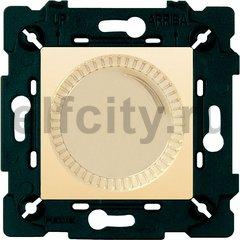 Диммер (светорегулятор) поворотный 40-500 Вт для ламп накаливания и галогенных 220В, бежевый