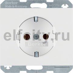 Розетка с заземляющими контактами 16 А / 250 В, автоматические зажимы, полярная белизна