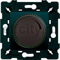 Диммер (светорегулятор) поворотный 40-500 Вт для ламп накаливания и галогенных 220В, графит/черный