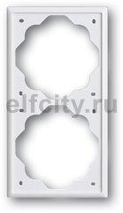 Рамка 2 поста, для горизонтального/вертикального монтажа, белый бархат