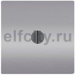 Стандартный поворотный выключатель, без подсветки , цвет: светлый хром