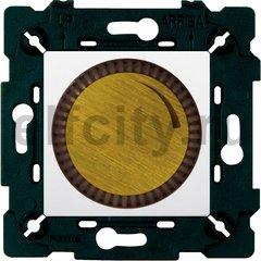 Диммер (светорегулятор) поворотный 40-500 Вт для ламп накаливания и галогенных 220В, бронза светлая/белый
