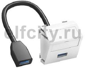 Мультимедийная рамка USB 3.0 A-A Modul45 (черный)