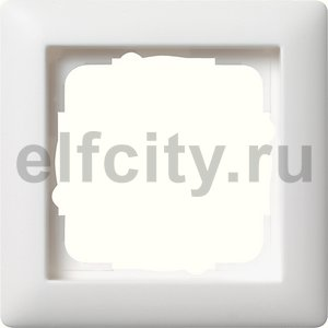 Рамка 1 пост, пластик белый матовый
