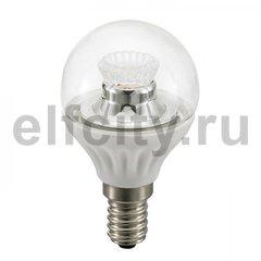 Civilight светодиодная лампа шар, 4 Вт, 220В, Е14, 250Lm, 2700К (теплый), DIM, прозр.стекло