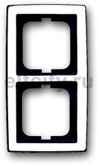 Рамка 2 поста, для горизонтального/вертикального монтажа, глянцевый хром