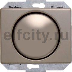 Диммер (светорегулятор) поворотный 60-400 Вт для ламп накаливания и галогенных 220В, металл светлая бронза