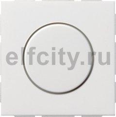 Диммер (светорегулятор) поворотный 60-600 Вт для ламп накаливания и галогенных 220B, пластик белый глянцевый