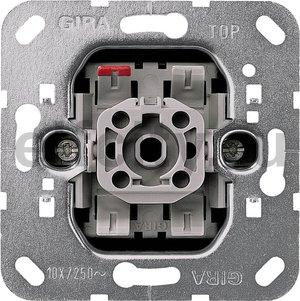 Механизм выключателя 1-клавишного. с 2-х мест