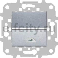Диммер (светорегулятор) клавишный 40-400 Вт для ламп накаливания и галогенных 220В, серебристый