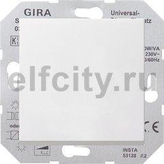 Диммер (светорегулятор) клавишный универсальный 50-420 Вт для ламп накаливания и низковольтных галогенных ламп, пластик белый матовый