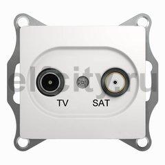 Розетка телевизионная оконечная TV/SAT , диапазон 1 DB, белый