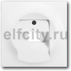 Плата центральная (накладка) для 1 постовой телекоммуникационной розетки 0213, 0216, с полем для надписи, серия impuls, цвет белый бархат