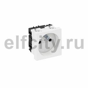 Розетка одинарная 0° франц. стандарт 250 В, 16A (белый)