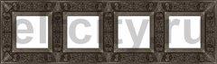 Рамка 4 поста, для горизонтального/ вертикального монтажа, античное серебро
