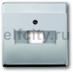Плата центральная (накладка) для 1 постовой телекоммуникационной розетки 0213, 0216, с полем для надписи, серия pur/сталь