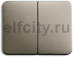 Клавиша для механизма 2-клавишных выключателей/переключателей/кнопок, серия alpha exclusive, цвет палладий