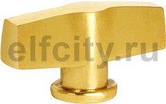 Ручка латунная для выключателя поворотного, блестящее золото