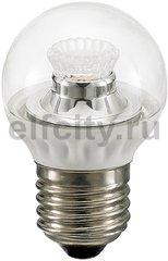 Civilight светодиодная лампа шар, 4 Вт, 220В, Е27, 250Lm, 2700К (теплый), DIM, прозр.стекло