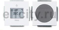 Радиоприемник скрытого монтажа с RDS с двумя динамиками, встроенная антенна, пластик белый глянцевый