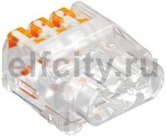 Клемма OBO универсальная пружинная c зажимом 3x2,5mm2, прозрачная
