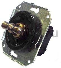 Выключатель поворотный 2-х позиционный для внутреннего монтажа проходной, коричневый