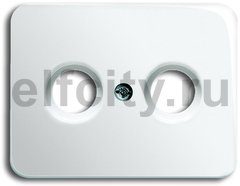 Накладка (центральная плата) для TV-R розетки, серия alpha nea, цвет белый глянцевый