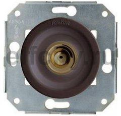 Выключатель кнопочный одинарный, работает только в импульсном режиме, 10А / 250В, бронза / коричневый