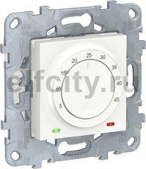 UNICA NEW термостат теплого пола, 10А, выносной термодатчик, белый