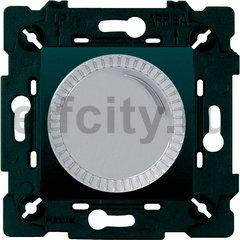 Диммер (светорегулятор) поворотный 40-500 Вт для ламп накаливания и галогенных 220В, светлый хром/черный