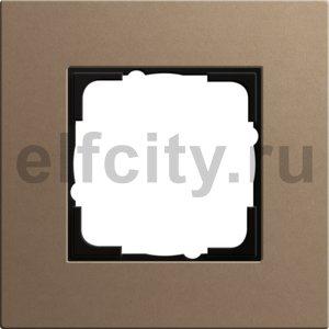 Рамка 1 пост, светло-коричневый