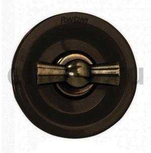 Выключатель поворотный двухклавишный, 10 А / 250 В, для внутреннего монтажа, бронза / коричневый
