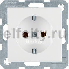 Розетка с заземляющими контактами 16 А / 250 В, автоматические зажимы, пластик белый матовый