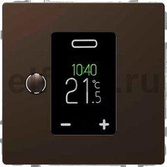 Термостат сенсорный программируемый 230 В~ 8А с выносным датчиком, для электрического подогрева пола, мокко