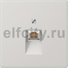 Розетка телефонная одинарная RJ11, светло-серый