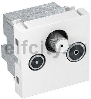 Антенная розетка TB+радио+спутник Modul45 45x45 мм (белый)