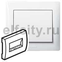 Лицевая панель - Galea Life - с держателем этикеток для информационной розетки RJ45 1 или 2 выхода - White