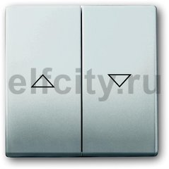 Клавиша для механизма выключателя жалюзи 2000/4 U и 2020/4 US, с маркировкой, серия pur/сталь