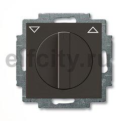 Выключатель управления жалюзи, поворотный с фиксацией, 10 А / 250 В, шато-черный
