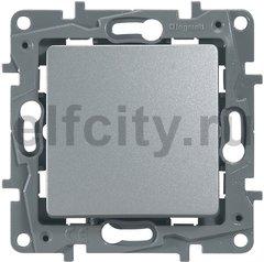 Выключатель, переключатель одноклавишный проходной (вкл/выкл с 1-го и 2-х мест), 10 А / 250 В, алюминий