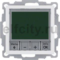 Термостат електронный программируемый, с выносным датчиком, для электрического подогрева пола 230 В~ 8А, пластик белый глянцевый