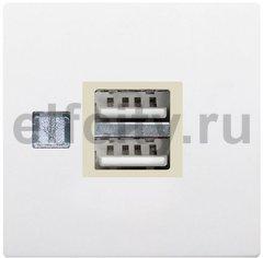USB механизм с пластиковой крышкой - USB зарядка, цвет: белый