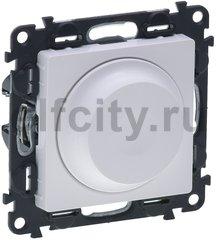 Диммер (светорегулятор) поворотный 5-75 Вт для светодиодных диммируемых ламп и 5-300 Вт для ламп накаливания, белый