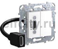 HDMI коннектор с переходником, белый