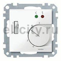 Термостат 230 В~ 8А  с выносным датчиком, для электрического подогрева пола, пластик белый глянцевый