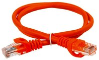 ITK Коммутационный шнур (патч-корд), кат.5Е UTP, 0,5м, оранжевый