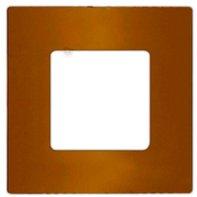 Рамка 1 пост для горизонтального и вертикального монтажа - Placa, цвет: матовое золото