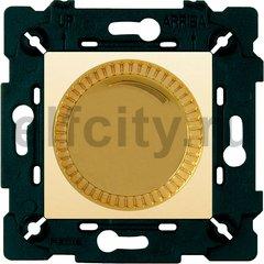Диммер (светорегулятор) поворотный 40-500 Вт для ламп накаливания и галогенных 220В, красное золото/бежевый